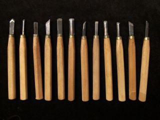 Lo 12 Vg Chisels Gouges ools Leaher Working Wood Carving