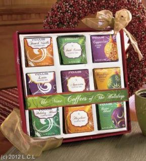 Festive Christmas Holiday Coffee Cocoa and or Tea Gift Set Beautifully