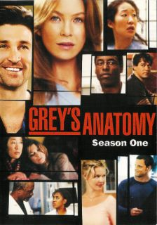 Greys Anatomy Season One Viewed Once DVD Mint 786936300451