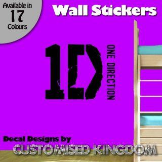 one direction 1d logo wall art decal sticker kit 2
