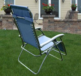 Zero Gravity Recliner Lounge Patio Pool Chair 3 Colors