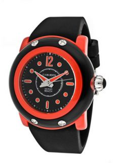 Glam Rock Watch GD1004 Womens Miami Beach Black Dial Black Silicone