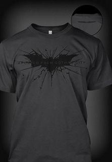 Dark Knight Rises Imported from Gotham City Black Grey Shirt