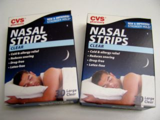 60 CVS Sleep Strips Nightime Sleep Aid Nasal Strips Large CLEAR