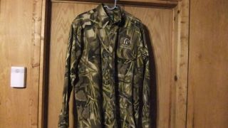 Ducks Unlimited Camo Shirt Size L Nice