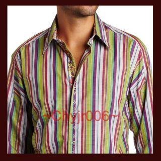 Robert Graham PARIS XL Bright Multi Color Embroidery Trims Sport Shirt