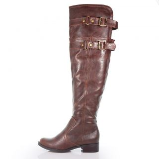 Ride Brown F Leather Knee High Stylish Equestrian Riding Boots Women