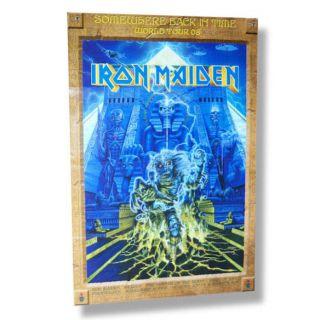 Iron Maiden Somewhere 2008 Tour Poster Program RARE New