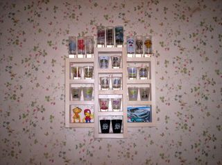27 Shot Glass Wall Display Case New Wood Shelf Ready to Finish Shelves