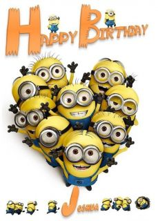 Personalised Despicable Me Minion Birthday Card