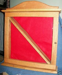 new handmade oak military flag medals display case time left