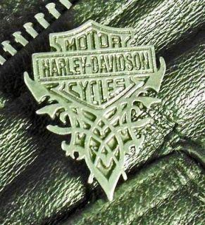 TRIBAL Bar Shield Harely Davidson Motorcycle Harley Leather Biker Vest