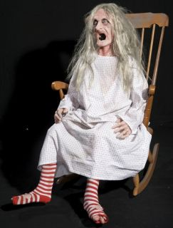 Rocking Granny Animated Halloween Prop Foam Latex New