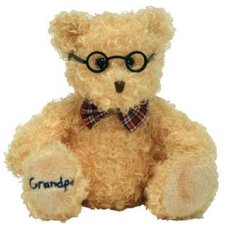 Ty Beanie Baby Dear Grandpa The Bear Hallmark Gold Crown Exclusive 8 5