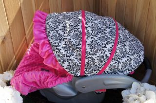 Graco SnugRide Infant Car Seat Cover Small Damask Hot Pink