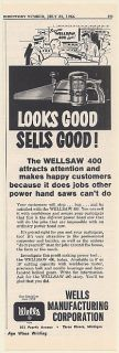 1964 Wells Wellsaw 400 Power Hand Saw Looks Good Sells Good Trade