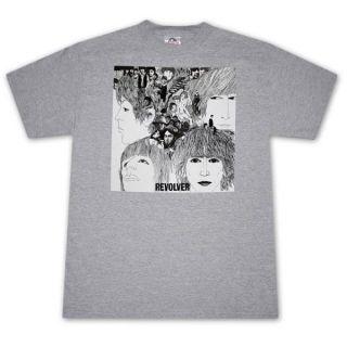 The Beatles Revolver Album Ash Grey Graphic Tee Shirt