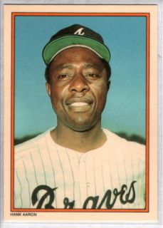 Hank Aaron 1985 Topps Circle K Home Run Kings 1