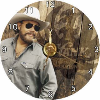 Brand New Country Singer Hank Williams Jr CD Clock