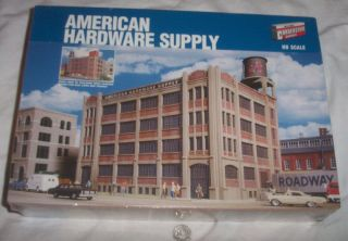 Series HO Scale American Hardware Supply Building Model Kit