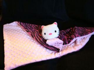 Handmade Hello Kitty Baby Blanket Security Minky Dot Pink Fleece Pink