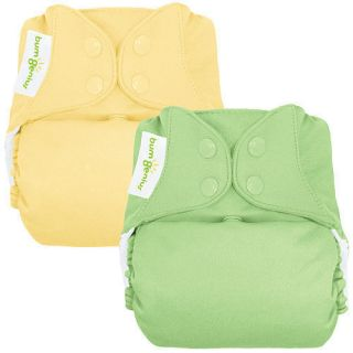 BumGenius 4 0 Snap Cloth Diaper 2 Pack Butternut Grasshopper One Size