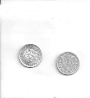 1937 Mexico 20 Centavos Uncirculated Mexican Silver Coin