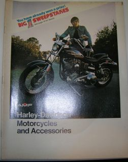 Harley Davidson 1975 Motorcycles and Accessories Catalog