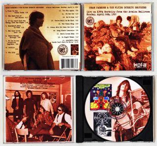 GRAM PARSONS THE FLYING BURRITO BROS Avalon Ballroom 4 6 1969 on KPFA