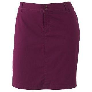 48 New Gloria Vanderbilt Skirt Skort Shorts Plum Wine Stretch