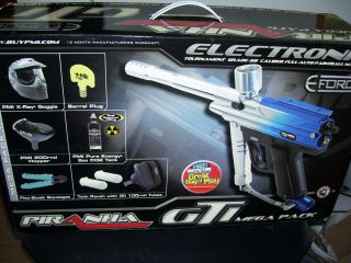 New Piranha GTI E Force Full Auto Paintball Marker Gun Mega Pack Kit