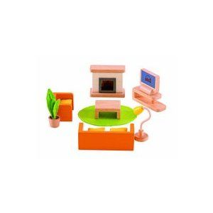 hape modern family room wooden toy 028315