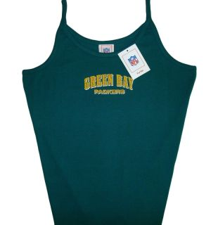 Green Bay Packers NFL Womens Ladies Cami Tank Top XL NWT
