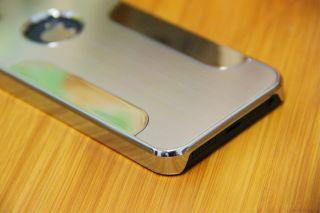 Premium Aluminum Plastic Hard Blade Chrome Case Cover for iPhone 5 5g