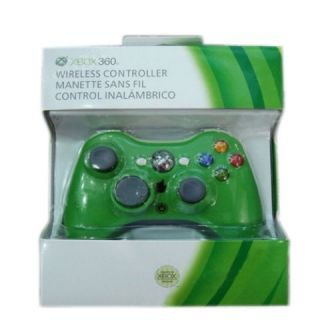 Green Wireless Remote Controller Glossy for Microsoft Xbox 360 New in