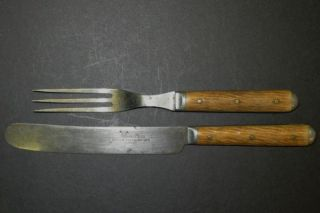 Russell Co Green River Works Stag Handle Knife Fork
