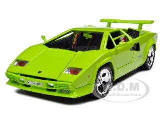 Lamborghini Countach 5000 Green 1 18 Diecast Model Car