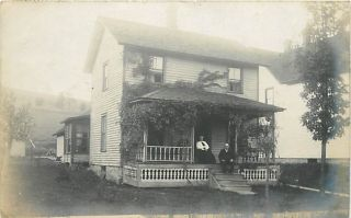 PA Harrison Valley Residence Real Photo 1907 T37749