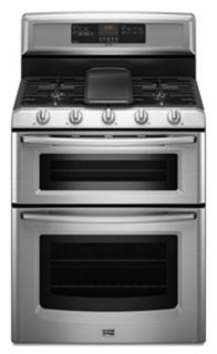 Maytag Double Oven Convection Stainless Steel Top Line Gas Range BRAND