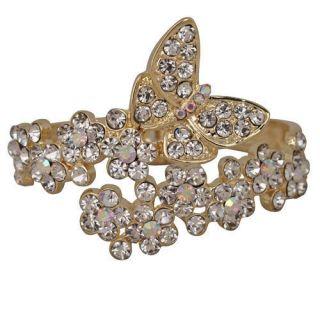 Kirks Folly Goddess Garden Butterfly Cuff Bracelet S2275C1G