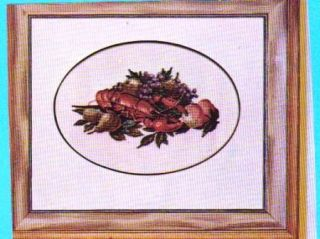 Vtg Alice Godkin Lobster Fruit Petit Point Pattern
