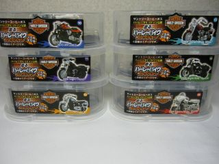Harley Davidson Official Mini Bike Collection Pull Back Type Set of 6