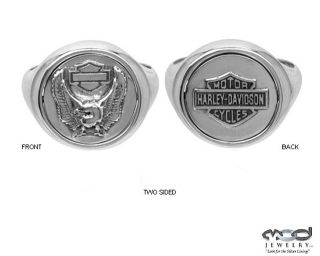 Harley Davidson Mens Reversible Ring 9 10 11 12