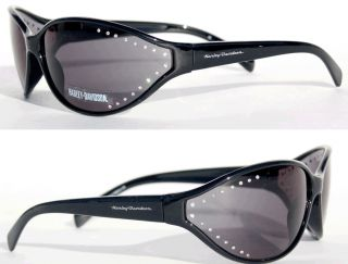 HARLEY DAVIDSON LADIES BLACK FRAME STUDDED BLING SUNGLASSESBRAND