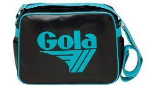 Gola Redford Black Teal Messenger Record School College Bag Boys Girls
