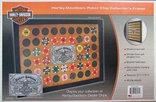 Harley Davidson 48 Chip Collector Poker Chip Display Case D6931