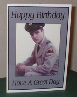 Elvis Presley Personalised Birthday Greeting Card E4