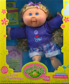 Cabbage Patch Kids Doll Emme Harlow Blonde Hair Freckles Blue Eyes