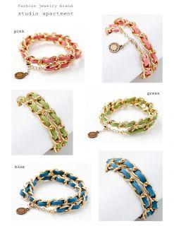 Apartment Design Fashion Jewelry Suede String Chain Bracelet Bracelets
