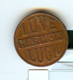 Old Egyptian Pyramid Swastika Love Harmon Luck Medal